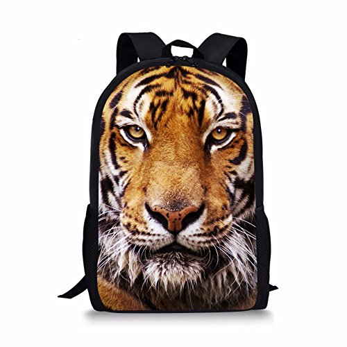 Tiger Backpack - Coloranimal Cool 3D Tiger Head Printing Children School Backpacks