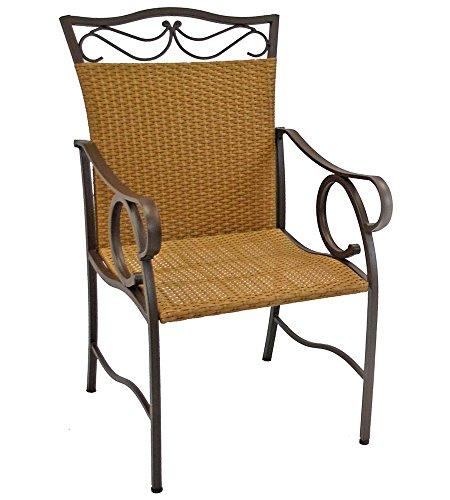 International Caravan Valencia Wicker Resin Patio Chair(Set of 2)
