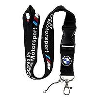 BMW Motosport Logo Llavero Llavero Negro Cordón de sujeción con correa Correa Hebilla de liberación rápida