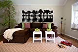 Tropical Palm Tree and Beach Ocean Scene Vinyl Wall Decal Sticker Graphic