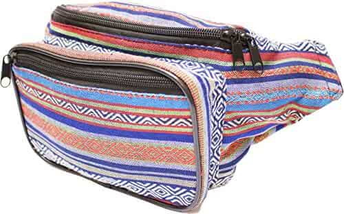 SoJourner Festival Fanny Pack - Boho, Hippy, Eco, Woven, Cotton & Tribal Poly Styles