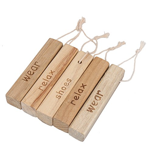 RDEXP Natural Camphor Wood Aromatic Non-toxic Clothes Protector Moth Repellent Wood for Closet Drawer Storage Set of 20 by RDEXP (Image #1)