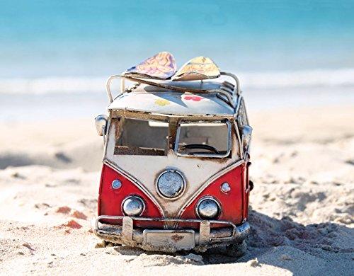 Poliestere 60 x 40 cm Multicolore PAPILLON Bus sulla Spiaggia Tappetino da Bagno Assorbente