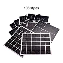 108 patterns design tattoo stencil album professional and reusable tattoo airbrush stencil template booklet book
