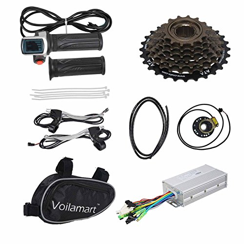 Voilamart 26'' Rear Wheel E-bike Hub 48V 1000W Electric Bicycle Conversion Kit Cycling Brushless Hub Motor w/ Intelligent Dual Mode Controller Restricted to 750W Secret Wire for Road Bike by Voilamart (Image #6)