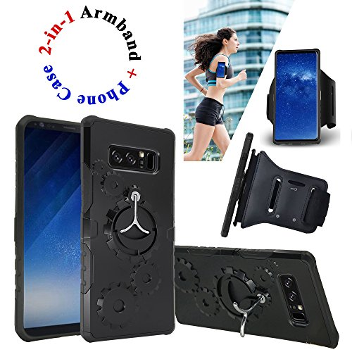"""Free Corresponding Sports Arm band with Purchase of Detachable Kickstand Phone Case Shock Proof Edge Cover for 6.3"""" Samsung Galaxy Note 8 note8"""
