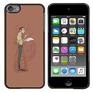 Planetar® ( Escritor Wrt Hombre Auto Reflexión Retrato Arte ) Apple iPod Touch 6 6th Touch6 Fundas Cover Cubre Hard Case Cover