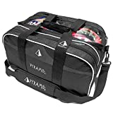Pyramid Path Double Tote Plus Clear Top Black