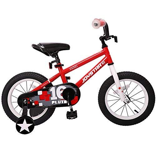 JOYSTAR 16 Inch Kids Bike for Boys & Girls, Unisex Child Bicycle with Training Wheels for Child 4 5 6 7 Years, Red (85% Assembled)