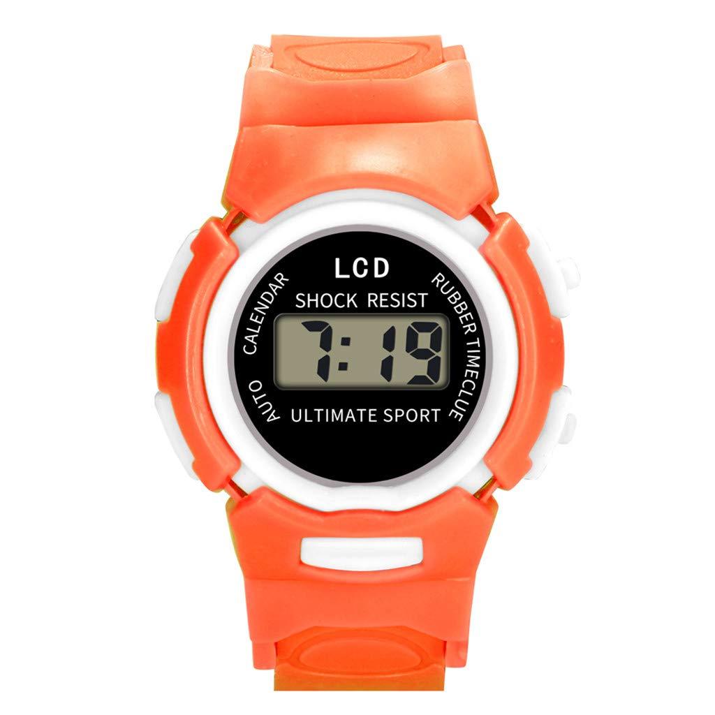 Barhalk Children Analog Digital Wristwatch Round Dial Unisex 30M Waterproof Watch Sport Watches Gift Souvenir for Children' Day Birthday Party