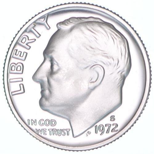 1972 S Proof Clad Roosevelt Dime PF1