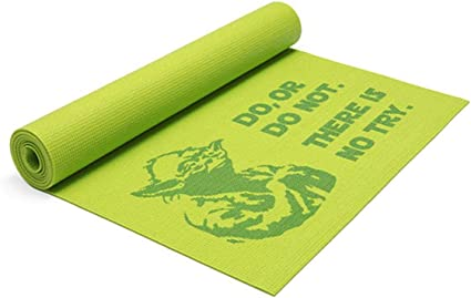 Amazon.com : Star Wars Yoda Yoga Mat : Sports & Outdoors