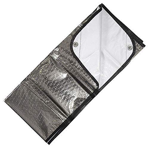 (MWShop Sun Reflecting Tarp Survival Blanket with Windproof and Water Proof for Emergency)