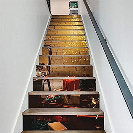 XIAOMAN Etiquetas engomadas de la Escalera 13 Piezas 3D calcomanía autoadhesiva extraíble DIY Arte Pegatinas para escaleras 18 * 100 cm (Color : Multi-Colored, Size : 234cm*100cm): Amazon.es: Hogar
