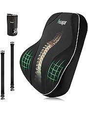 Feagar Lumbar Pillows Back Cushion - Memory Foam Pillows Lumbar Support for Car Home Office Chair, Ergonomics Orthopedic Cushion Relieve Back Sciatica Tailbone Pain, Plus