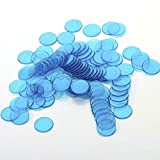 gg 100pcs PRO Counter Bingo Chips Markers for Bingo Game Board Game 4 Color 2cm