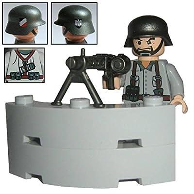 "'Custom Brick Design–Figurine–WW2série–Soldat Allemand mg de Sagittaire """