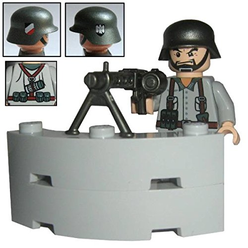 Custom Brick Design–Figurine–WW2série–Soldat Allemand mg de Sagittaire ""