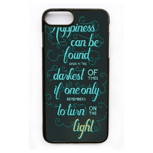 Coque,Apple Coque iphone 7 Plus (5.5 pouce) Case Coque, Generic Happiness Can Be Found In The Darkest Cover Case Cover for Coque iphone 7 Plus (5.5 pouce) Noir Hard Plastic Phone Case Cover