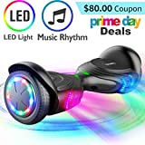 TOMOLOO Music-Rhythmed Hover Board for Kids and Adult Two-Wheel Self-Balancing Scooter- UL2272 Certificated with Music Speaker- Colorful RGB LED Light
