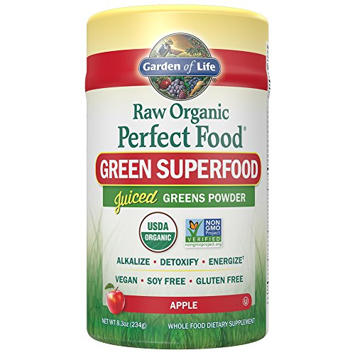 Garden of Life Vegan Green Superfood Powder - Raw Organic Perfect Whole Food Dietary Supplement, Apple, 8.3 oz Powder