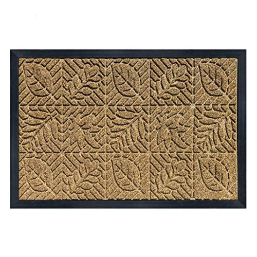 gbHome GH-6828B Antibacterial Quality Door Mat | 24 x 36 inches | Indoor  Outdoor Doormat w Anti-Skid Rubber Back | Water Absorbent Entryway Mat | Easy to Clean Bootscaper | Low Profile Entry Mat