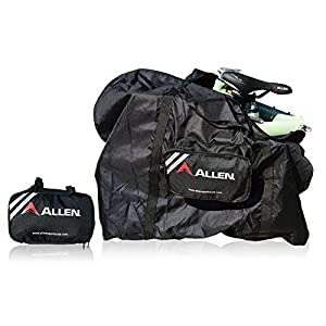 Allen Sports Folding Bike Carry and Storage Bag, 20 inch / One Size, Black