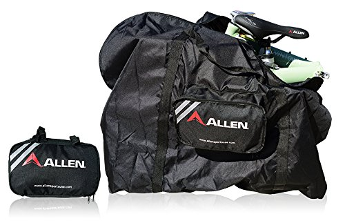 Allen Sports Folding Bike Carry and Storage Bag, 20 inch/One Size, Black