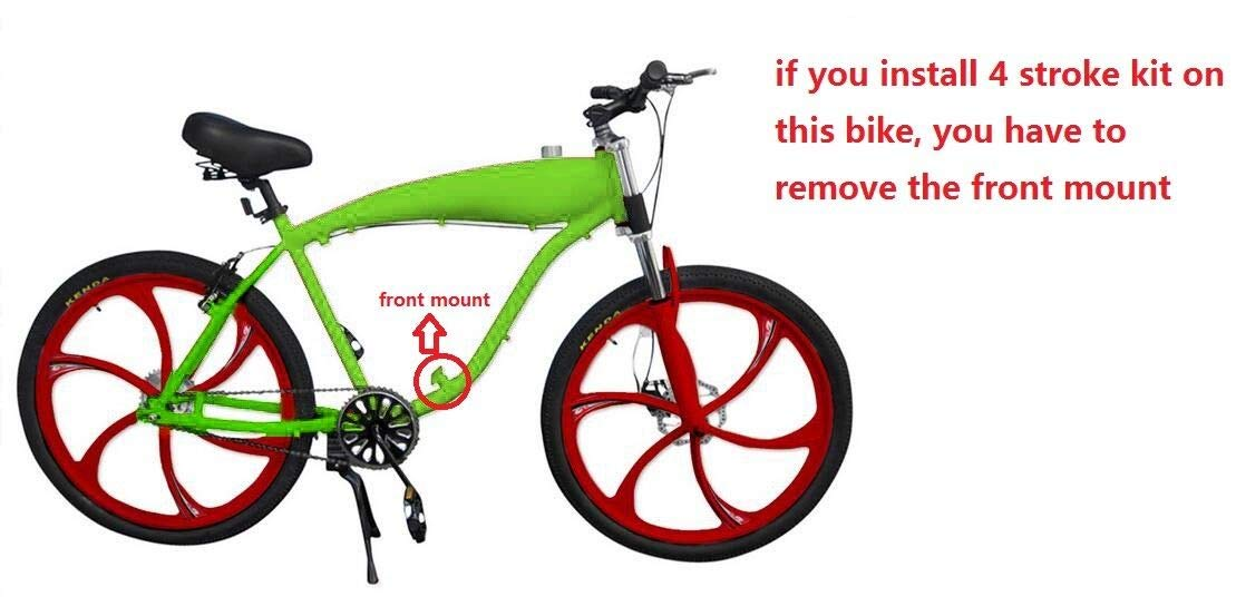 Green Color-Gas Motorized Bicycle dolphin1986 Reinforced Bicycle Gas Frame with fule Tank,2.4L Frame and Headset