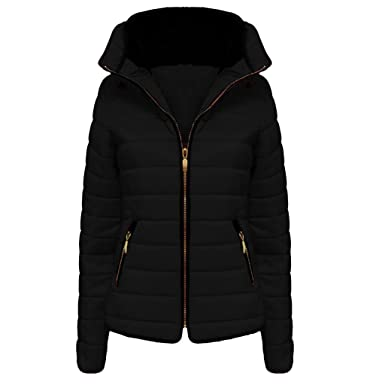 38232d88b02b H F Girls Kids High Quality Zara Inspired Quilted Bubble Puffer Padded Long  Sleeve Zip Up Faux Fur Inside Collar Black Coat Jacket Size 1-14 Years  ...