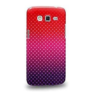 Case88 Premium Designs Art Red Diamond Halftones Half Tones Carcasa/Funda dura para el Samsung Galaxy Grand 2