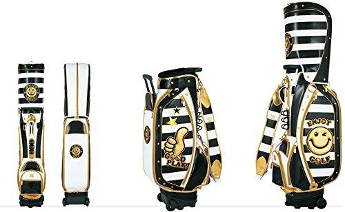 [해외] WINWIN STYLE(운운스타이루) ENJOY GOLF 엔조이고르프 TROLLY 캐스터부 카트 화이트/캐데이백 8.5퍼터입 GOLD VERSION CB-486 BK