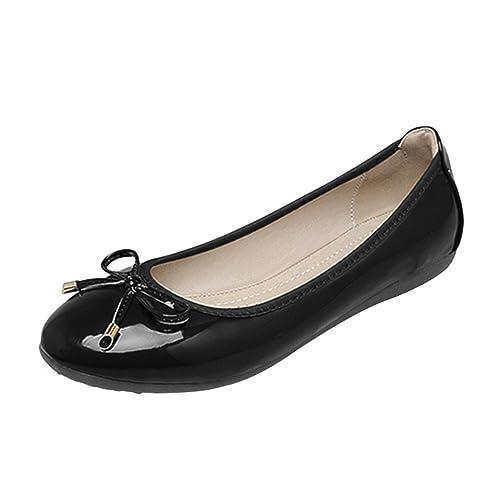 Jitong Mujer Casual Mocasines con Bowknot Slip-on Mocasines Verano Cómodo Zapatos de Conducción (