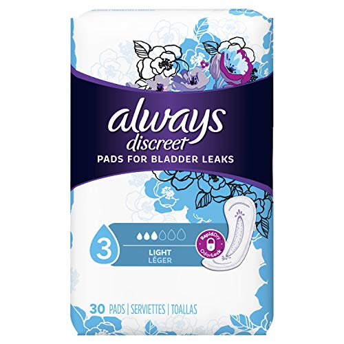 Always Discreet, Incontinence Liners, Ultra Thin, Regular Length, 30 Count (Packaging May Vary)
