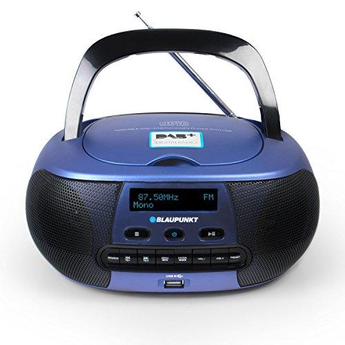 Blaupunkt BD 400 Draagbare cd-speler met digitale radio DAB+, cd-speler met stereoboxen, Aux in aansluiting voor MP3…