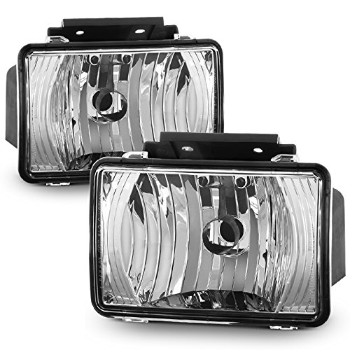 (For Chevy Colorado | GMC Canyon Pair of Clear Bumper Driving Fog Light Lamp Replacement)