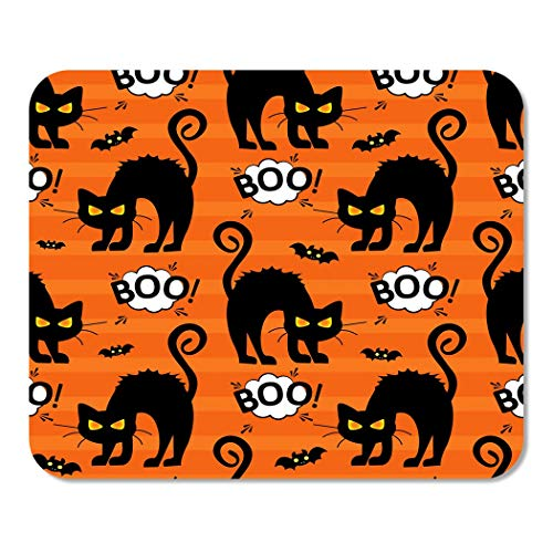 Suike Mousepad Computer Notepad Office Abstract for Girls Boys Creative Cat Cloud Boo Halloween Home School Game Player Computer Worker 9.5x7.9 Inch