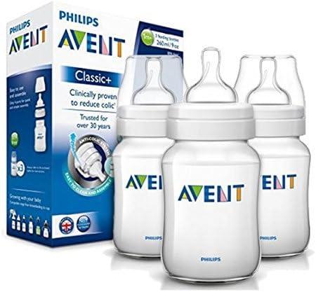 Philips AVENT 1 m + biberones clásicos con sistema anticólicos triple pack 260 ml sin BPA.: Amazon.es: Bebé