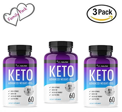 QFL Keto Trim Fast. Pure Keto Highest Potency Fast Action Diet Pills: Fat Burner, Carb Blocker + Appetite Suppressant -Made in US. (3) by QFL