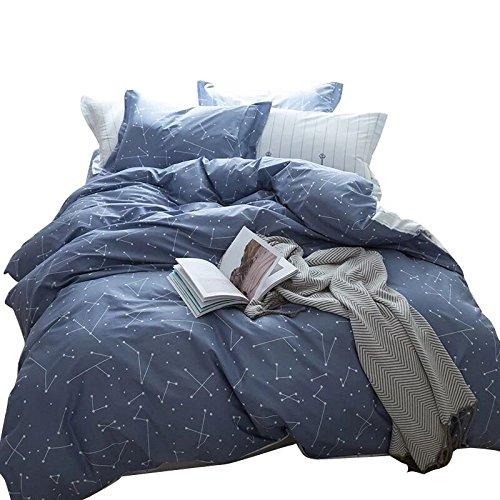 Luxury 4pc Coastal Blue /& White Beach Cotton Comforter Set AND Decorative Shams