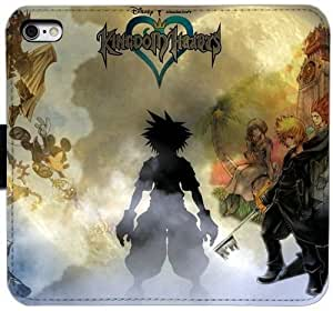 Grouden R Create and Design Folio Case,22157 kingdom hearts Leather Wallet Cell Phone Case for iPhone 5 5S SE,GHL-1692229