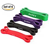 INTEY Pull up Assist Band Resistance Bands for Body Stretching Powerlifting Exercise Bands Set of 4