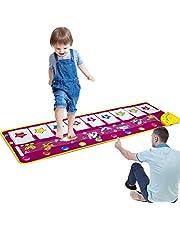 ASTOTSELL Piano Mat, Opvouwbare Muzikale Mat [100 cm X 36 cm, 14 Toetsen] Baby Dansmuziek Piano Tapijt Deken Speelgoed Cadeau voor Kinderen Meisjes (Paars)