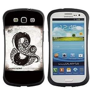 Suave TPU GEL Carcasa Funda Silicona Blando Estuche Caso de protección (para) Samsung Galaxy S3 I9300 / CECELL Phone case / / And Sign Kraken Sea Monster Black /