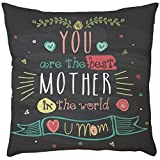 EOWEO Happy Mother's Day Sofa Bed Home Decoration Festival Pillow Case Cushion Cover(43cm×43cm,G)