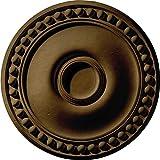 Ekena Millwork CM19FOBRS Foster Ceiling Medallion, 19 1/8'' OD x 1'' P, Brass