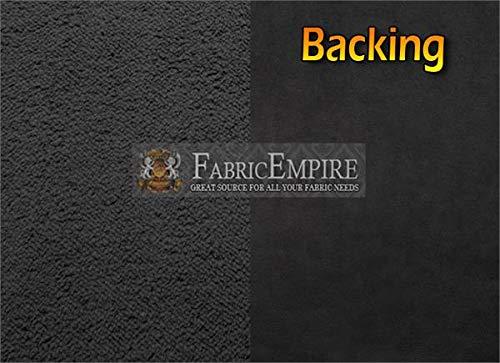 Sherpa Suede Minky (Minky Sherpa Suede Bonded Fabric 04 Black / 54