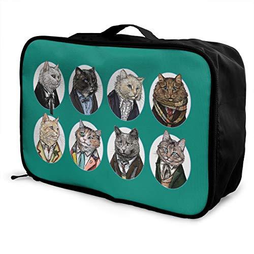 Doctor Mew Lightweight Large Capacity Portable Luggage Bag Fashion Travel Duffel Bag