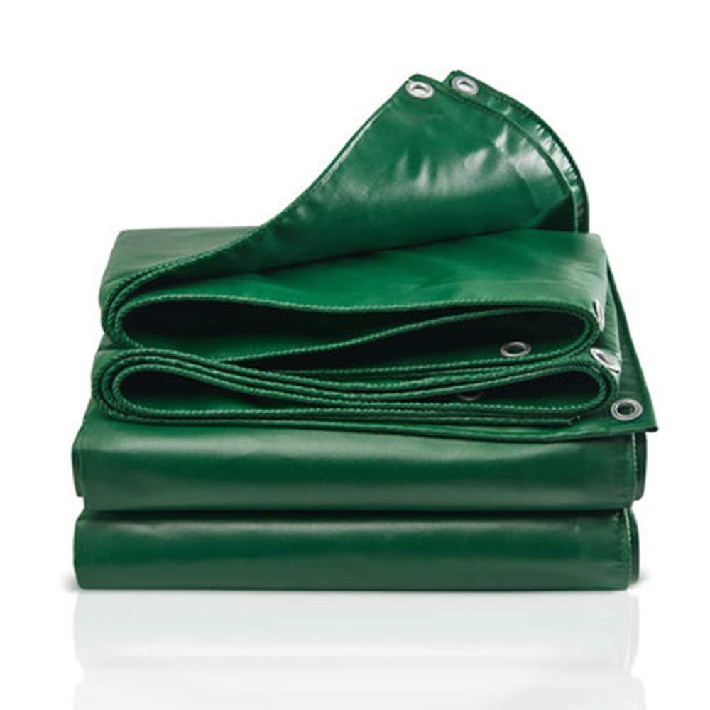 Axdwfd Grüne Plane, Wasserdichter und regendichter Dicker Sonnenschutzblock im Freienisolierungsregen-Segeltuchsonnenschutz