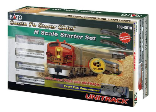 Kato Train - Kato USA Model Train Products N Scale Santa Fe Super Chief Starter Set